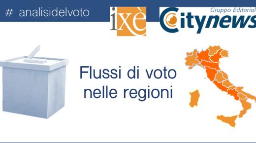 I flussi di voto nelle regioni